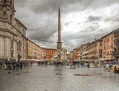 Piazza Navona Roma Italy HDR 2013 03