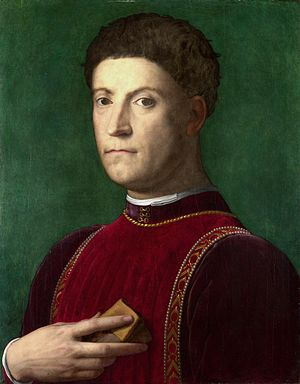 Piero di Cosimo de' Medici - Portrait of Piero by Bronzino.