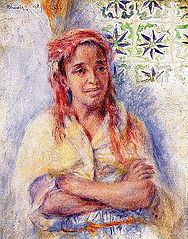 Portrait of Old Arab Woman