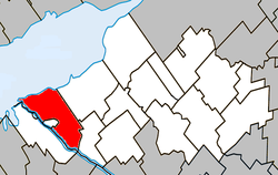 Location within Nicolet-Yamaska RCM