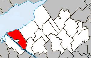 Pierreville, Quebec - Image: Pierreville Quebec location diagram
