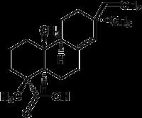 Strukturformel von Pimarsäure