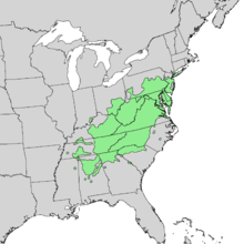 Pinus virginiana distribution map.png