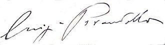 Luigi Pirandello - Image: Pirandello firma