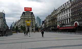 Place de Brouckère Square in Brussels, Belgium
