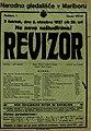Plakat za predstavo Revizor v Narodnem gledališču v Mariboru 6. oktobra 1927.jpg