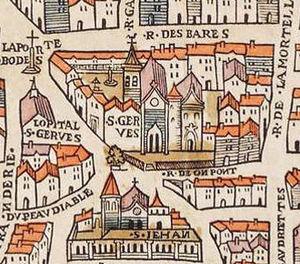 St-Gervais-et-St-Protais - The church in 1550