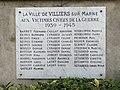 Plaque Victimes Civiles WWII Cimetière Villiers Marne 1.jpg