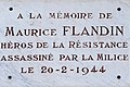 Plaque en hommage à Maurice Flandin, rue Maurice Flandin, à Lyon France (cropped).jpg