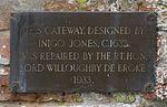 Plaque on the Peyto Gateway - St. Giles Church, Chesterton.jpg