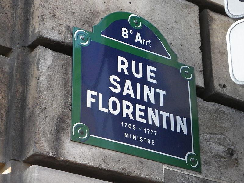 Fichier:Plaque rue Saint Florentin à Paris.JPG