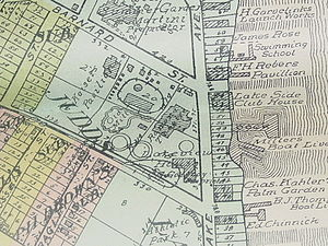 Ramona Park - Detail of plat map of Kent County, MI showing detail of Reeds Lake amusement park.
