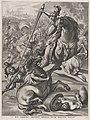 Plate 16- Battle of Achilles against the Trojans; from Guillielmus Becanus's 'Serenissimi Principis Ferdinandi, Hispaniarum Infantis...' MET DP874807.jpg
