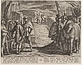 Plate 35- The Batavians Become Afraid and Begin Peace Talks, from The War of the Romans Against the Batavians (Romanorvm et Batavorvm Societas) MET DP862862.jpg