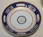 Plate with Persian market pattern and Shiite benediction 'Ali is looking upon you', Chinese porcelain, dated 1833 - Winterthur Museum - DSC01512.JPG