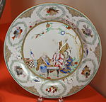 Plate with the Four Doctors, Jingdezhen, China, 1736-1740 - Winterthur Museum - DSC01580.JPG