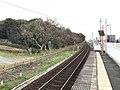 Platform of Kajikuri-Godaichi Station 6.jpg