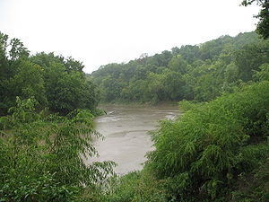 Platte River (Iowa and Missouri) - The Platte River near its confluence with the Missouri River at Farley, Missouri