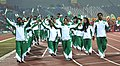 Players of Pakistan take participants march past, during the closing ceremony of the 12th South Asian Games-2016, in Guwahati on February 16, 2016.jpg