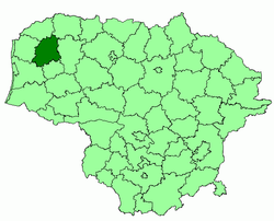 Location of Plungė district municipality within Lithuania