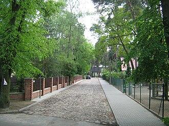 Podkowa Leśna - Street in Podkowa Leśna