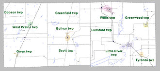 Poinsett County, Arkansas - Townships in Poinsett County, Arkansas as of 2010