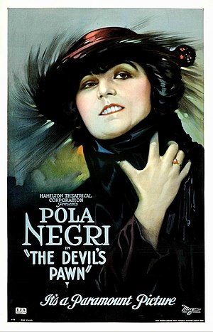 Der Gelbe Schein - Theatrical release poster for the 1922 US release, titled The Devil's Pawn