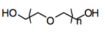 Chemical structure of polyethylene glycol
