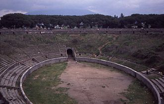 Pink Floyd: Live at Pompeii - The amphitheatre at Pompeii where most of the footage was filmed.