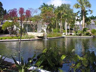 Miami Beach Botanical Garden - The main pond at the Miami Beach Botanical Garden