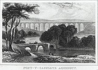 Pont-y-casullte aqueduct: in the vale of Llangollen, Denbighshire