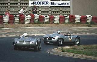 Porsche 718 series of one- or two-seat sports-racing cars built by Porsche