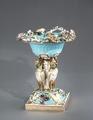Porslin. Skål. Bordsdekoration. Blått och guld - Hallwylska museet - 89114.tif