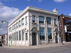 Former bank building on West Street in Port Colborne[1]