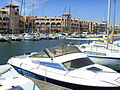 Port Leucate (Aude), boats in harbour.jpg