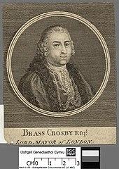 Brass Crosby Efqr, Lord Mayor of London