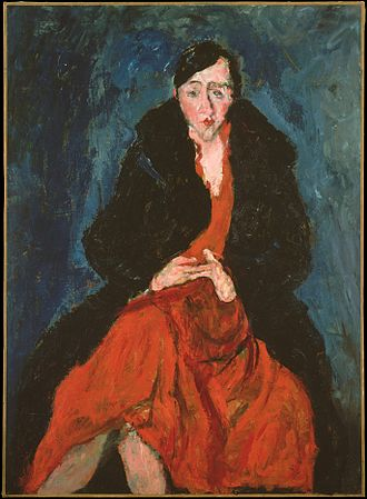 Madeleine Castaing - Portrait of Madeleine Castaing by Chaim Soutine, ca. 1929, at The Metropolitan Museum of Art