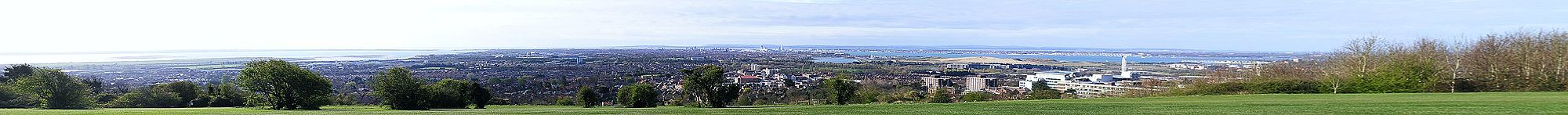 Portsmouth panorama from Portsdown Hill