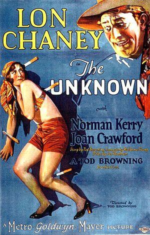 The Unknown (1927 film) - Image: Posterunknownusx
