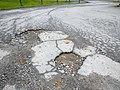 Potholes on asphalt road 20171023.jpg