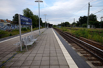 Potsdam Griebnitzsee station - The platforms of Griebnitzsee station