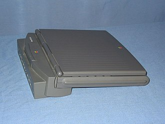 PowerBook Duo 210 - Side view of a PowerBook Duo 210 portable computer