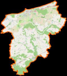 Mapa lokalizacyjna powiatu kołobrzeskiego
