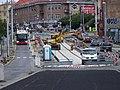 Průběžná, rekonstrukce TT, zastávka Na Hroudě.jpg