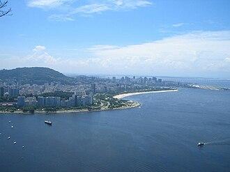 Flamengo, Rio de Janeiro - Right, aerial view of Flamengo Beach