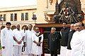 Pranab Mukherjee inaugurated the New Maharashtra Sadan, in New Delhi. The Governor of Maharashtra, Shri K. Sankaranarayanan, the Union Minister for Agriculture and Food Processing Industries, Shri Sharad Pawar.jpg
