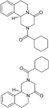 Praziquantel Enantiomers Structural Formulae.png