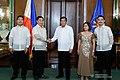Pres Duterte with SC Associate Justice Samuel Gaerlan oathtaking.jpg