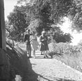 Prime Minister Jawaharlal Nehru, and Lord and Lady Mountbatten strolling during their holiday in Simla.jpg