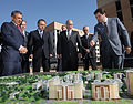 Prime Minister Vladimir Putin inspecting the construction site of the Village of the Student Games 2013 in Kazan.jpeg